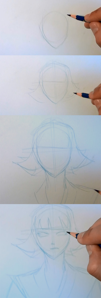 how to draw manga bleach saifon 01 How to draw Anime Saifon Bleach