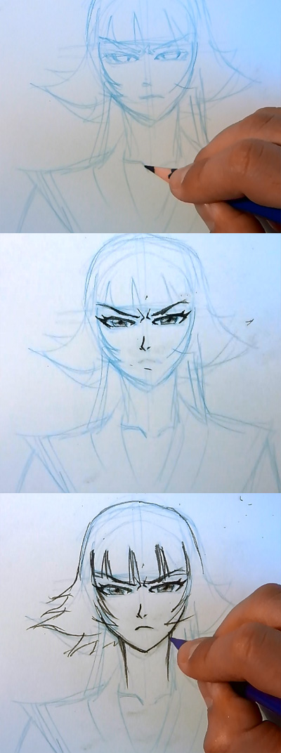 how to draw manga bleach saifon 02 How to draw Anime Saifon Bleach