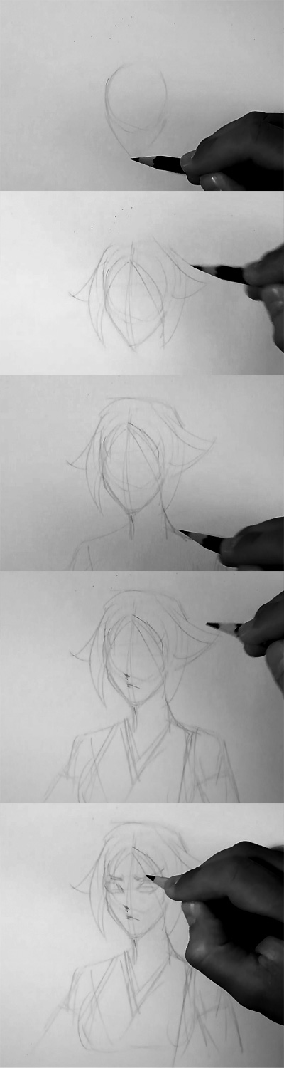 how to draw manga bleach steps How to draw Anime Yoruichi Bleach