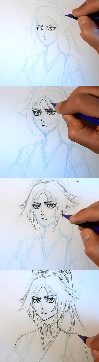 how to draw manga bleach yoruichi How to draw Anime Yoruichi Bleach