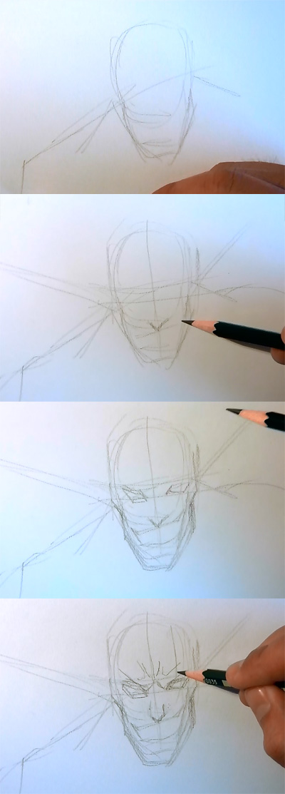how to draw manga kenpachi bleach How to draw Anime Kenpachi Bleach