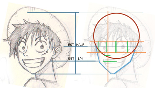 how to draw Manga one piece