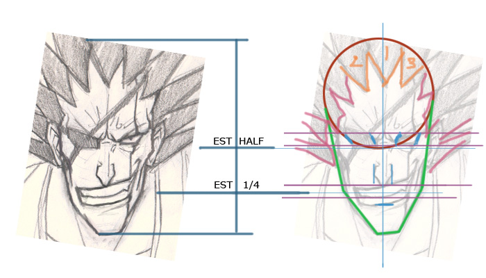 kenpachi manga drawing instruction How to draw Anime Kenpachi Bleach