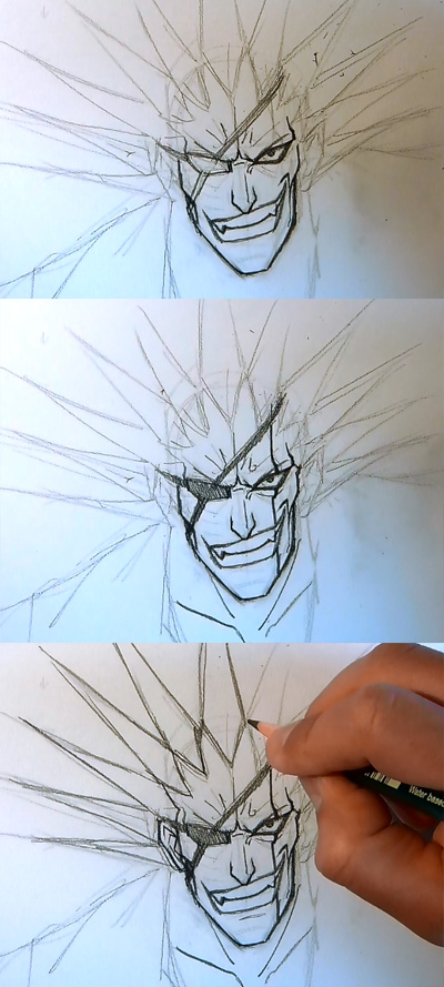 manga tutorial drawing kenpachi bleach How to draw Anime Kenpachi Bleach