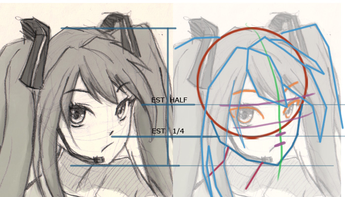 miku vocaloid drawing tutorial How to draw Anime Miku Vocaloid