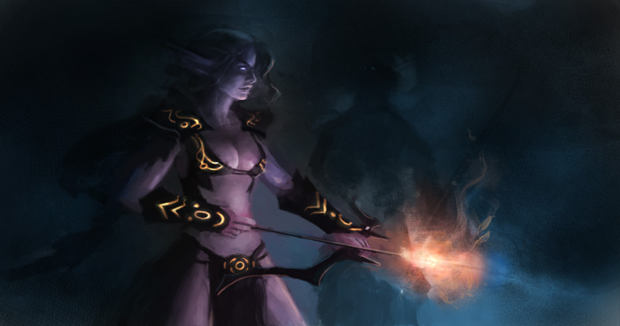 night elf speedpainting Digital painting tutorial night elf