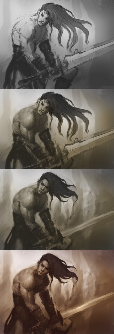 painting tutorial photoshop How to draw barbarian warrior