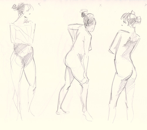 two minute life drawing
