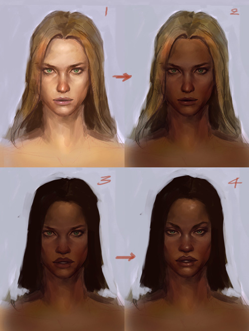 character design african face tutoria