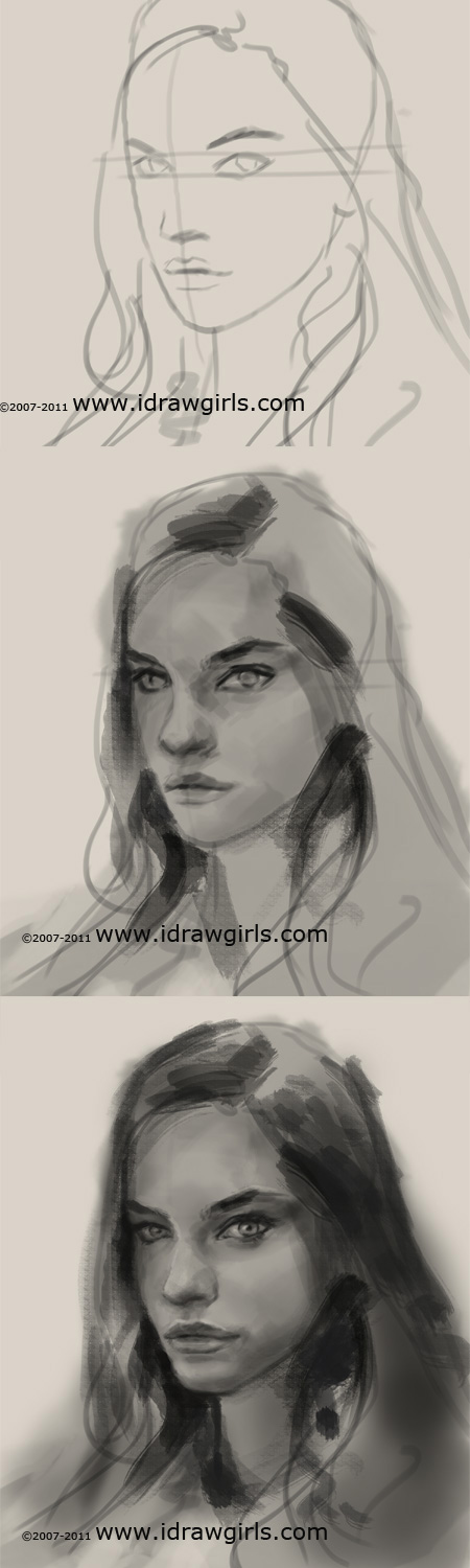 digital portrait tutorial How to sketch portrait