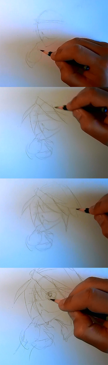 draw Death Note L step 1