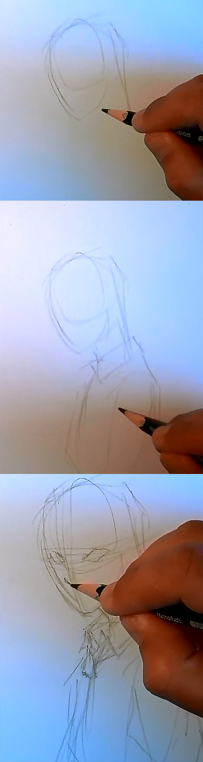 draw light death note step 1 How to draw Manga Light Yagami