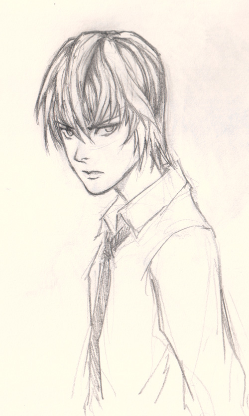 draw light death note How to draw Manga Light Yagami