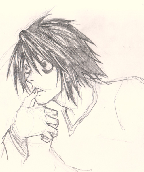 draw Death Note L
