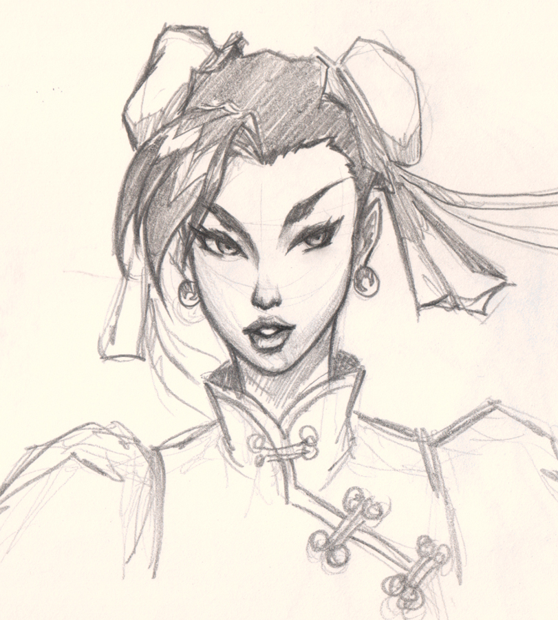 drawing chun li face How to draw comic woman face Chun Li