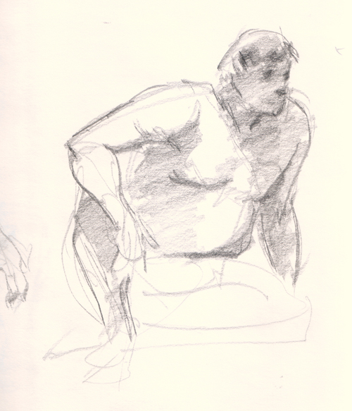 figure drawing male 5 minutes pose