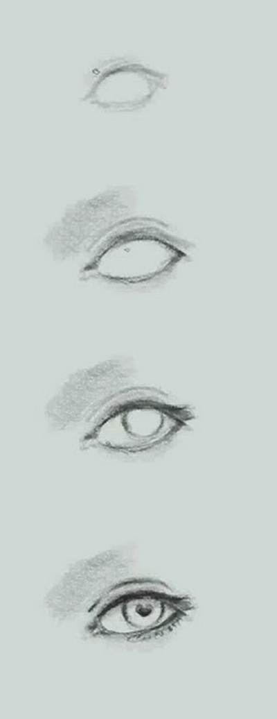 how to draw eye basic