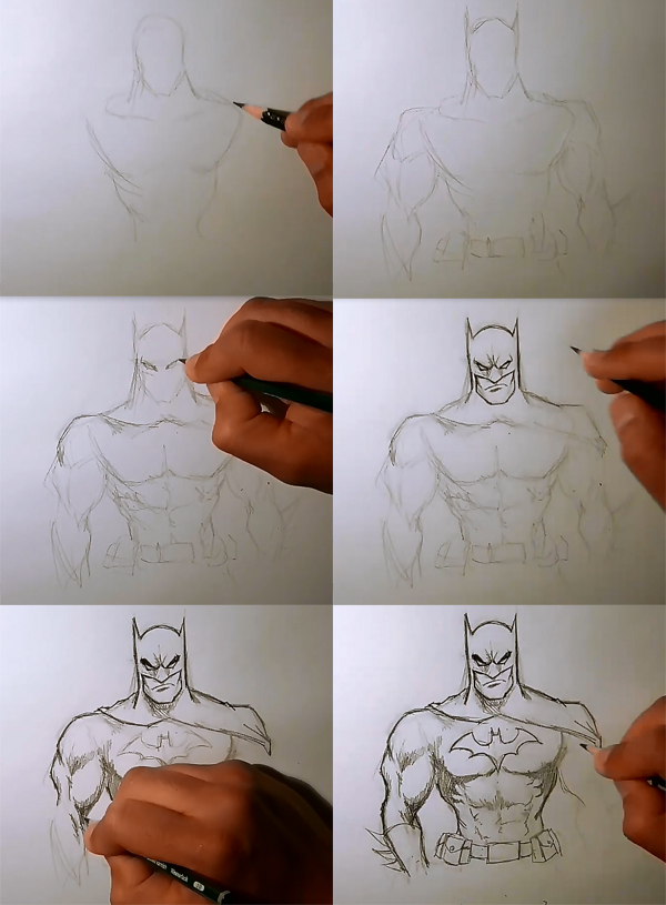 how to draw batman How to draw Batman