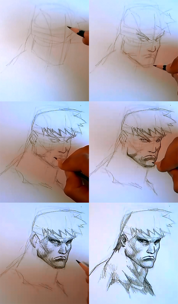 how to draw comics male hero face How to draw comics man face
