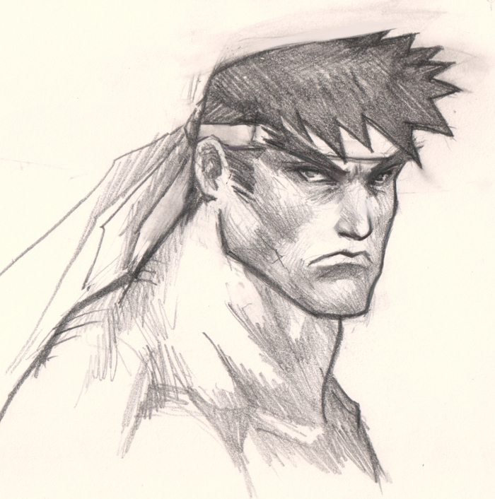 how to draw ryu face How to draw comics man face