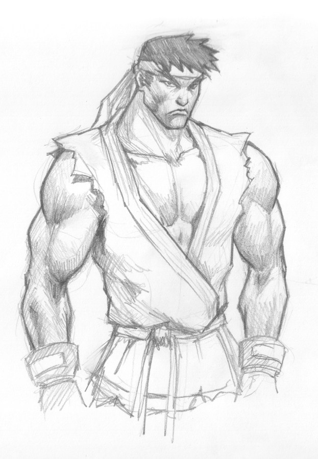 how to draw ryu street fighters How to draw Ryu Street Fighter