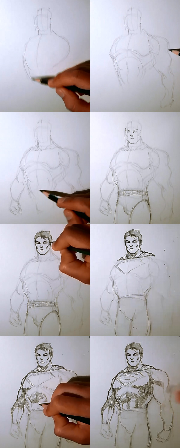 how to draw super man How to draw Superman