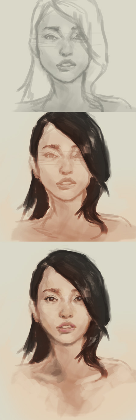 how to paint asian woman portrait How to paint Asian woman face portrait study