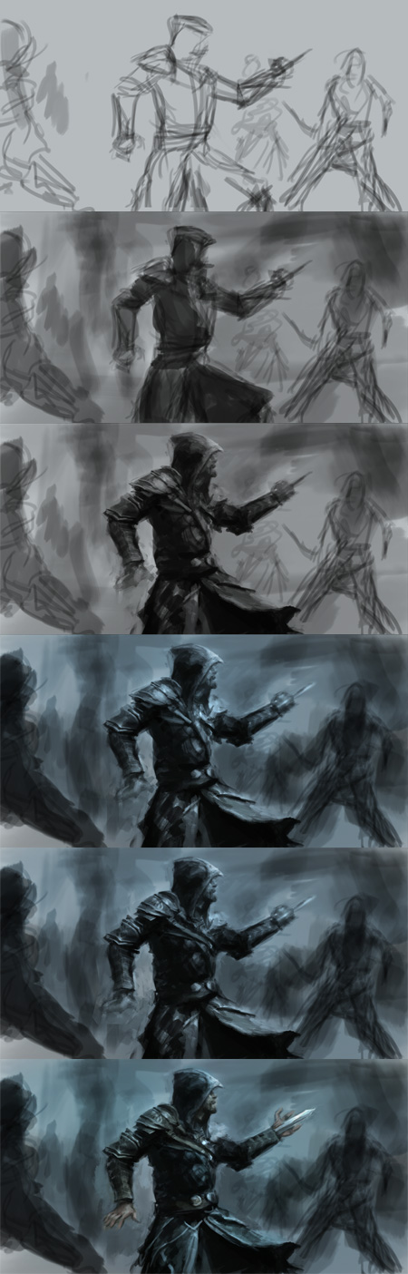 how to draw assassin's creed