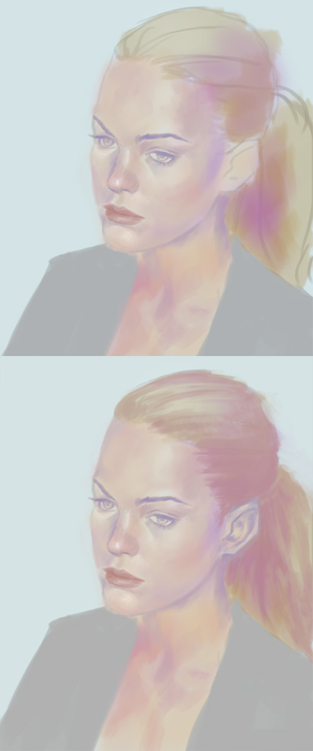 how to paint high key portrait High key portrait painting