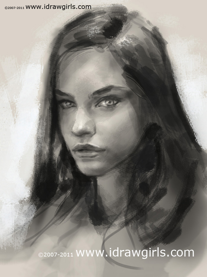 portrait drawing tutorial How to sketch portrait