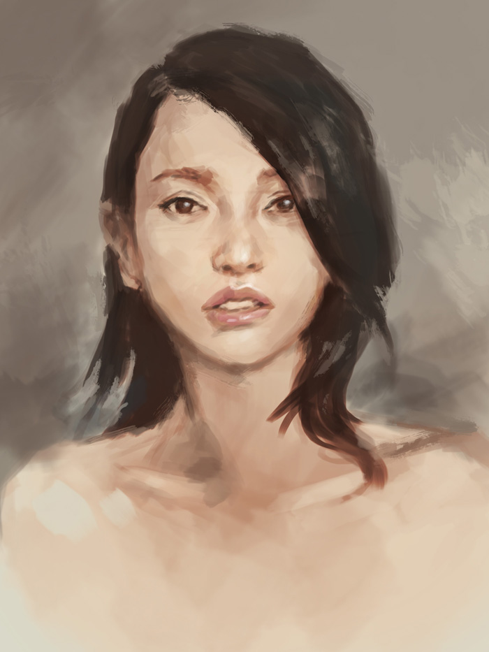 portrait painting study asian woman How to paint Asian woman face portrait study