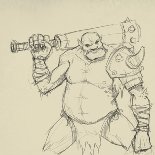 how to draw ogre