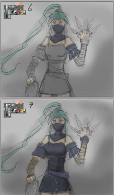 how to color ninja girl How to draw Manga ninja girl