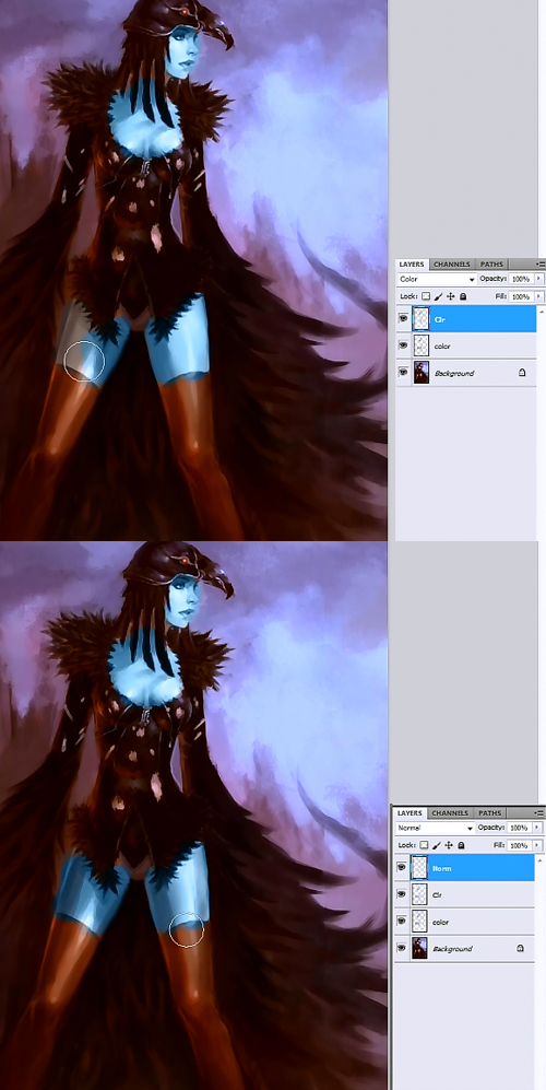 how to color in photoshop