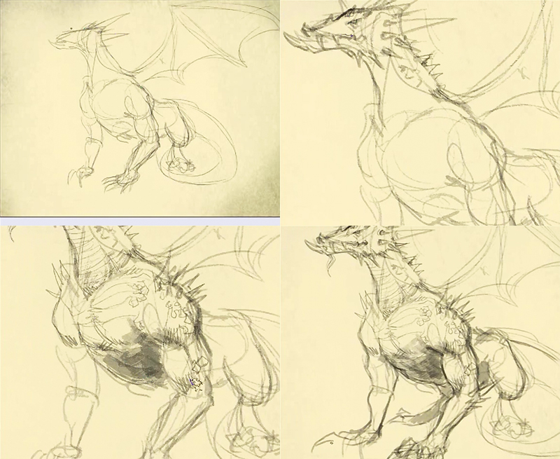how to draw dragon 2 How to draw a dragon