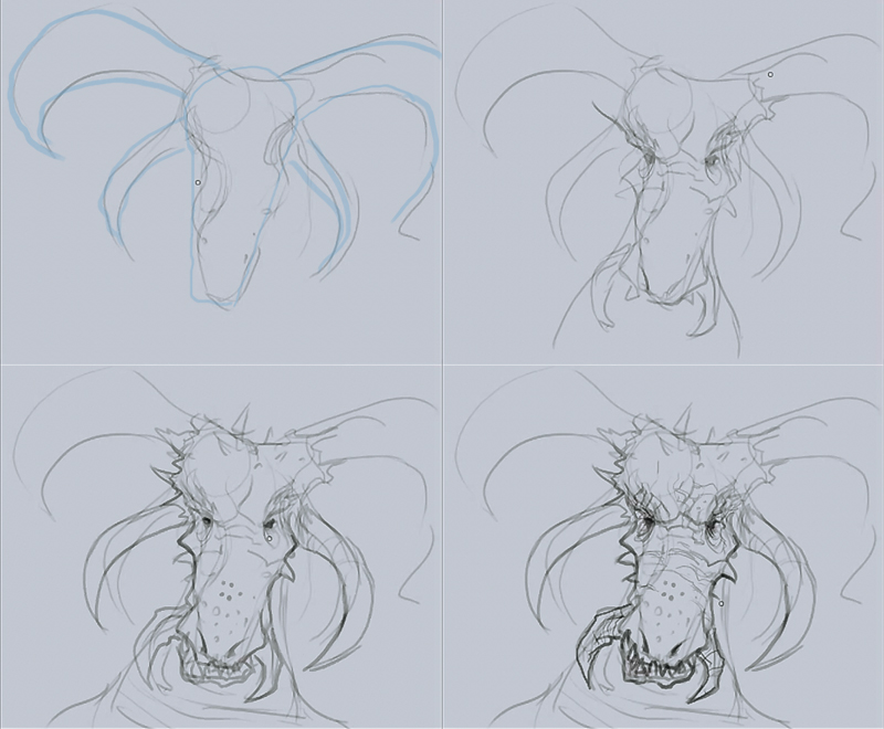 how to draw dragon head How to draw dragon head