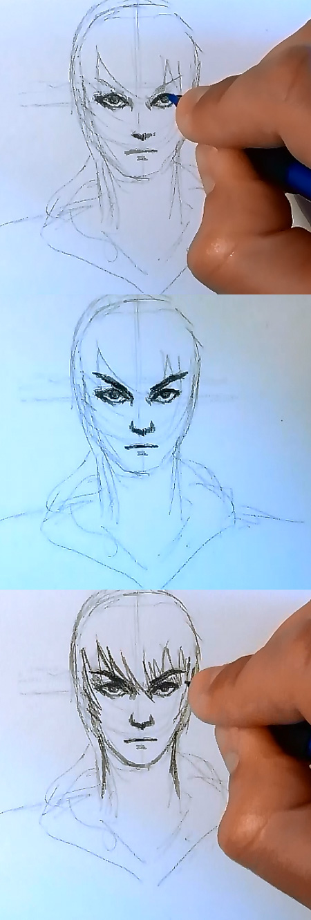 how to draw manga realistic face 2 how to draw realistic Manga style face