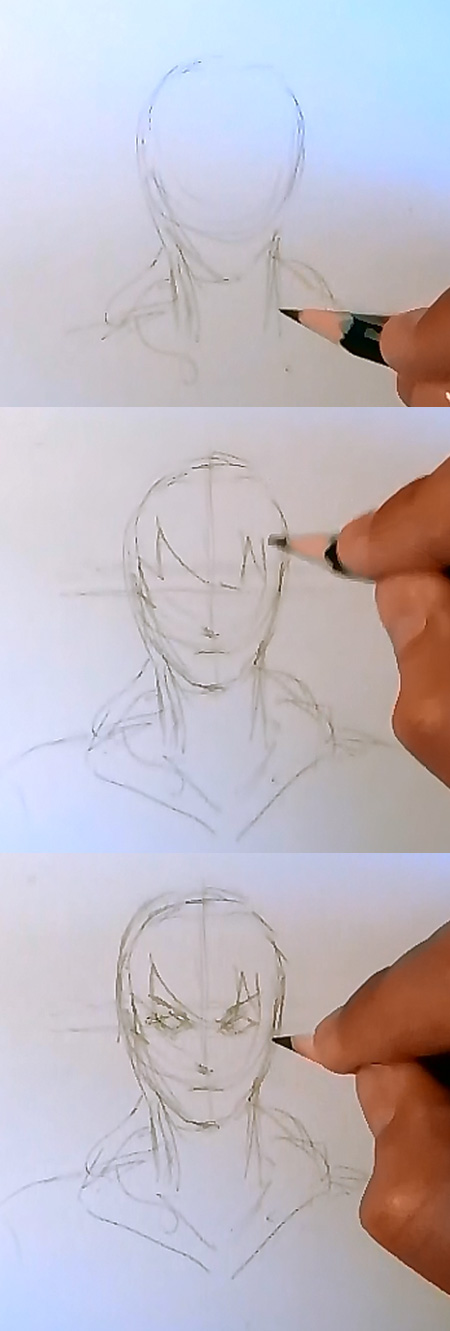 how to draw manga realistic face how to draw realistic Manga style face