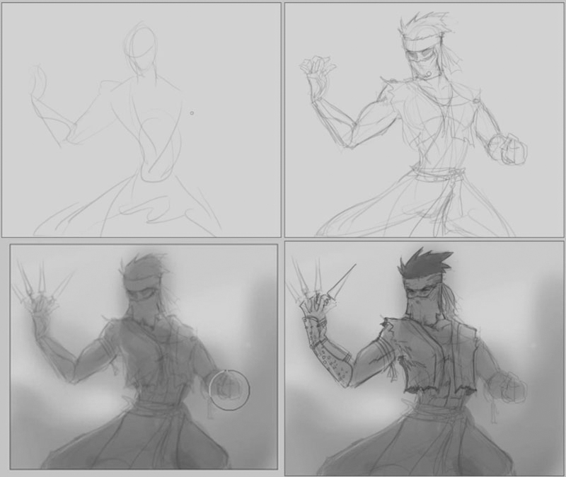 how to draw ninja