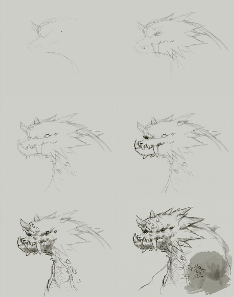 how to draw ogre dragon How to draw ogre dragon