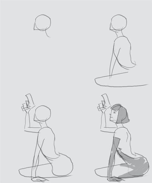 how to draw spy woman step by step