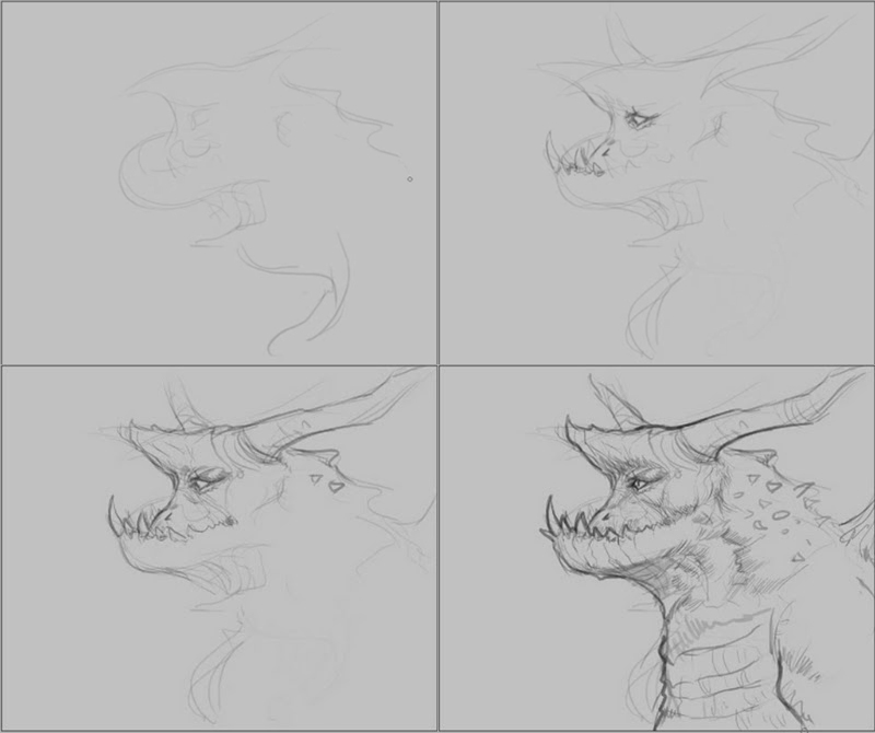 how to draw wood dragon How to draw wood dragon