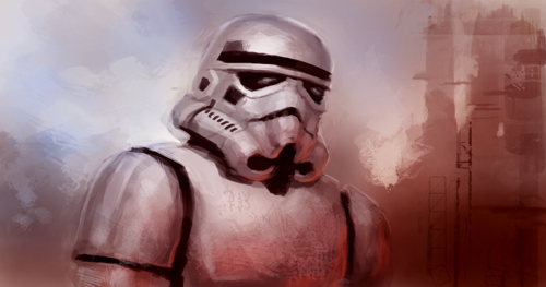 stormtrooper speed painting