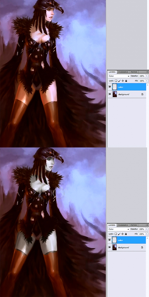 using color mode photoshop Photoshop painting tutorial using color
