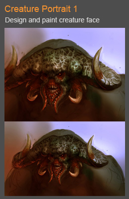 cover creature portrait 01 Demon creature portrait concept art step by step