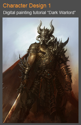 cover dark warlord 01 Photoshop digital painting tutorial Samurai character