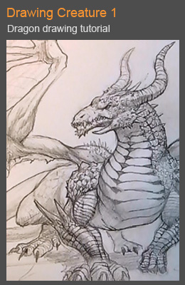 Drawing Creature 1: Dragon Tutorial