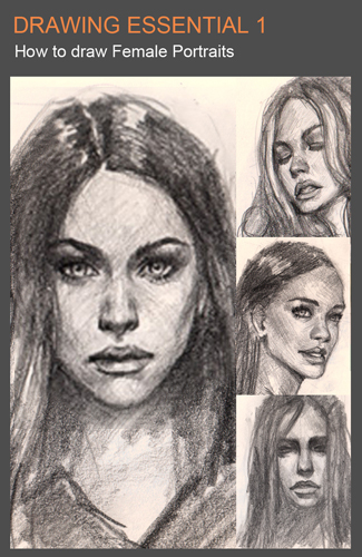 cover de fem por 01 Draw realistic face front view