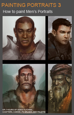 Painting men portraits tutorial