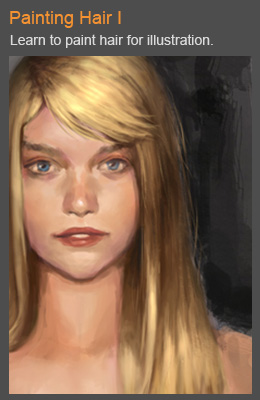 How to paint hair digital painting